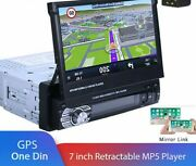 Hd Retractable Mp5 Multimedia Car Players Gps Navigation Bluetooth Typed Stereos