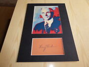 Henry Ford Mounted Pop Art Photograph And Preprint Autograph Mount Size A4