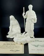 Lenox Nativity Sculptures Set Of 3 Bone Bisque In Box- The Holy Family, Euc