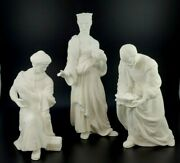 Lenox The Nativity Three Kings White Bisque With Box 3 Pieces, Euc