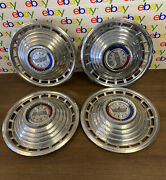 1963 Ford Galaxie Country Squire Wagon Dish Hubcaps Set Of 4 Oem