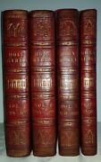 1817 Large Holy Bibles / 4 Vols Set / Finest Cathedral Bindings