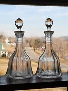 Very Rare C.1899 A.h. Heisey And Co. Peerless Shut And Cut Decanter Set - Excellent