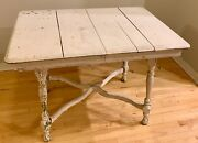 Vintage Antique Distressed Wood Farmhouse Dining Room Table Local P/u Only