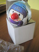 Girl Scout Snowman Ornament Happy Holidays Winter Fun Snow Gift In Box New
