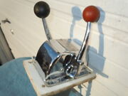 Vintage Morse Dual Twin Lever Top Mount Shifter Control