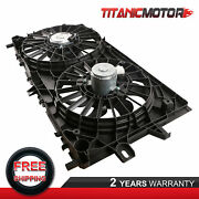 Dual Radiator Cooling Fan For 06-11 Chevy Impala 05-08 Buick Lacrosse 89018694