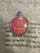 Rare Big Bad Wolf And Three Little Pigs Pocket Watch Moving Eye Works