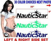 Nauticstar Nautic Star Boat Boats Decal Decals 30 Color Choices Hull Side