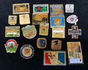 Lot Of 20 - Vintage Asst. Pin Collection. Usps Post Office City And More