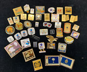 Lot Of 46 - Vintage Asst. Pin Collection. Usps Mail Rare Collection Look