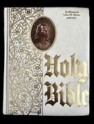 Vintage Large Family Heritage Edition Holy Bible Kjv Red Letter Maps Pictures
