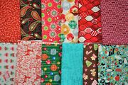 Huge Lot Of 100 Cotton Christmas Holiday Quilt Quilting Fabric 11 1/2 Yards