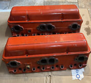 1972-73 Orig Chevrolet 3998993 Small Block Engine Heads And Valve Covers 307 350