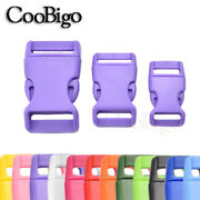 100x Colorful Side Release Buckles Curved Outdoor Camping Diy Paracord Bracelet