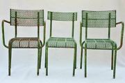 Three Perforated Garden Chairs From The 1970and039s Renandeacute Malaval