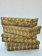Four Nineteenth Century Wooden Boxes For Storing Fabric And Textiles 18 X 26