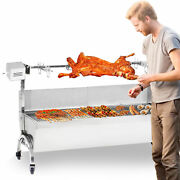46and039and039 Spit Roaster Rotisserie Pig Lamb Chicken Roast Bbq Picnic Outdoor Cooker