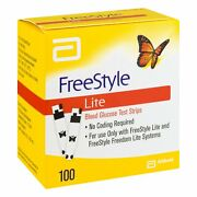 Freestyle Lite Blood Glucose Test Strips | 100 Ct |pack Of 12