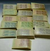 539 Us Stamps Plate Blocks Of 4 3 Cent Stamp 1940's 2156 Stamps