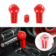 Central Gear Shift Knob Head Trim Decor Cover For Ford Mustang 2015+ Accessories