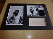 Harry Houdini Mounted Photographs And Preprint Signed Autograph Card