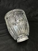 Vtg Art Deco And039holophaneand039 Crystal Lamp Shade Primitive Star Rib Glass 2 1/8 1/4