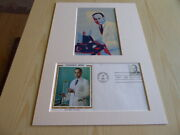 Charles R. Drew Mounted Pop Art Photograph And 1981 Usa Fdc Mount Size A4