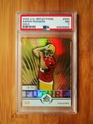 2005 Upper Deck Reflections Gold /50 300 Aaron Rodgers Rookie Psa 7