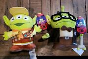 Disney Store Remix Alien Up Carl And Russell Stuffed Plush Doll Pair New Sold Out