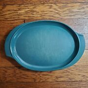 Vintage Hunter Green Boonton Ware Plate/small Platter 11 Made In New Jersey Usa