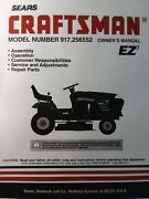 Sears Craftsman Hydro 15.0 Hp 42 Lawn Tractor Owner And Parts Manual 917.256552
