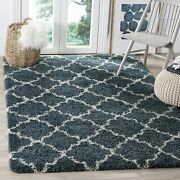 Safavieh Hudson Shag Collection Sgh282b Moroccan Trellis 2-inch Thick Runner 2and039