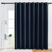 Nicetown Blackout Wide Blinds For Sliding Doorinsulated Noise Reduction Drapes