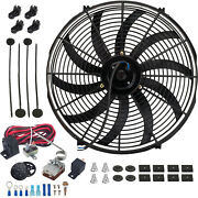 16 Inch 130w Electric Cooling Fan Adjustable Temperature Controller Switch Kit