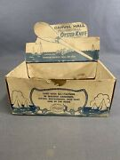 Rare Vintage Carvel Hall Crisfield Md Oyster Can Knife Advertising Display Box