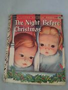 Vintage A Little Golden Book The Night Before Christmas. By Simon And Schuster