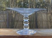 Pairpoint Art Glass Triple Control Bubble Compote