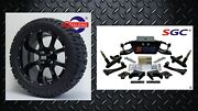 Club Car Ds Golf Cart 6 A-arm Lift Kit +14 Wheels And 22 At Tires 1982-2003