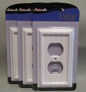 Amerelle Cottage White Duplex Wall Plates Outlet Covers Set Of 3