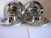 4 Chevy Gm Disk Brakes Rally Wheel Center Hub Caps W/ Black Flags Decal