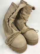Wellco Army Military Combat Tactical Desert Tan Boots Sz 7.5 R