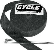 Cycle Performance Cpp/9042-100 Exhaust Pipe Wrap 2in. X 100ft. - Black