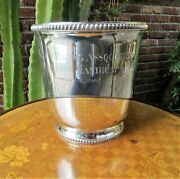 And Co. Sterling Silver Trophy Horse Racing Oak Tree Champagne Ice Bucket