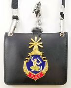 Cambodia Rcaf Army Military Wallet Id Badge Identification Holder Lanyard