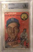 Al Kaline Signed 1954 Topps Rookie Card 201 Tigers Hof Rc🔥beckett Authenticate