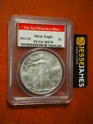 2012 S Silver Eagle Pcgs Ms70 Struck At The San Francisco Mint Red Label