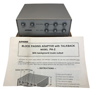 Aiphone Pa2 Talkback Paging Adapter New Old Stock 1980 Intercom System
