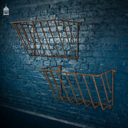 Pair Of Wrought Iron Hay Baskets