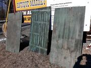 Antique Architectural Salvage Blue Green Wainscoting Wood Panels